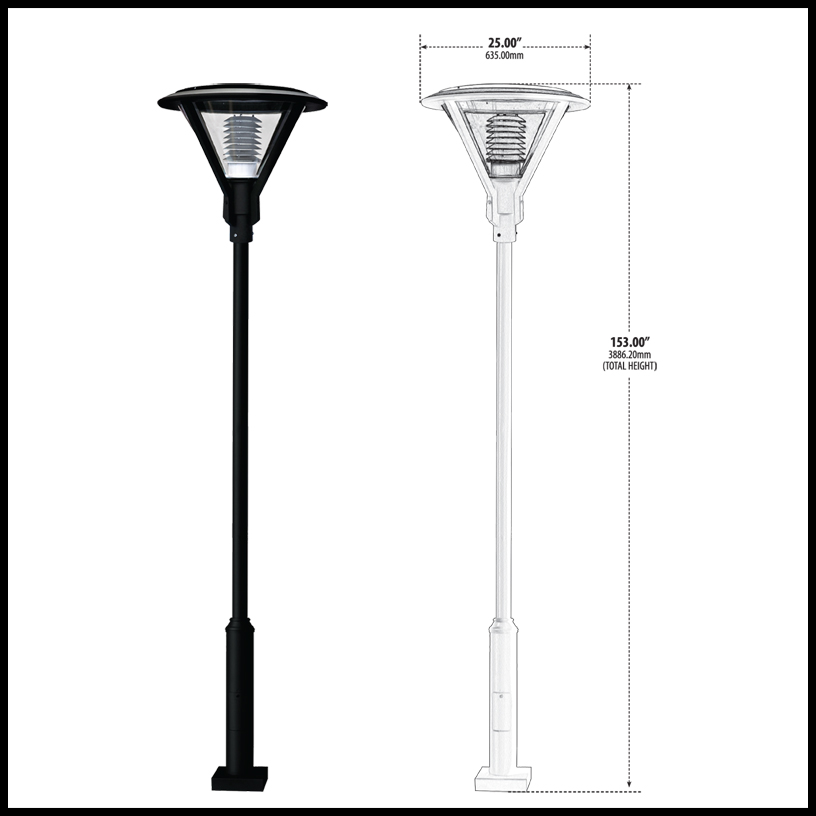 Modern Post Light Fixture, 120v