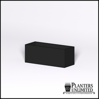 Modern Rectangle Cast Stone Planter - 36in.L x 14in.W x 14in.H