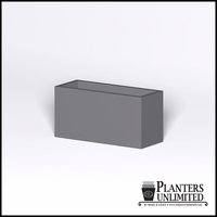 Modern Rectangle Cast Stone Planter - 36in.L x 14in.W x 18in.H