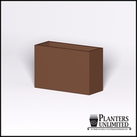 Modern Rectangle Cast Stone Planter - 36in.L x 14in.W x 24in.H