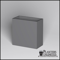 Modern Rectangle Cast Stone Planter - 36in.L x 18in.W x 30in.H