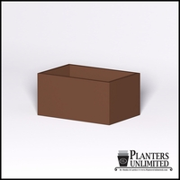 Modern Rectangle Cast Stone Planter - 36in.L x 24in.W x 18in.H