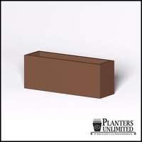 Modern Rectangle Cast Stone Planter - 48in.L x 14in.W x 18in.H