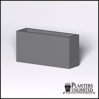 Modern Rectangle Cast Stone Planter - 48in.L x 14in.W x 24in.H