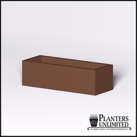 Modern Rectangle Cast Stone Planter - 48in.L x 18in.W x 14in.H