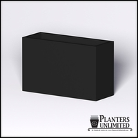 Modern Rectangle Cast Stone Planter - 48in.L x 18in.W x 30in.H