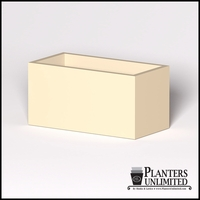 Modern Rectangle Cast Stone Planter - 48in.L x 24in.W x 24in.H