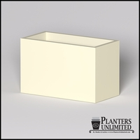 Modern Rectangle Cast Stone Planter - 48in.L x 24in.W x 30in.H