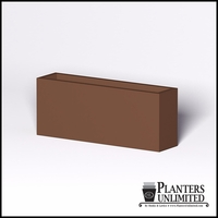 Modern Rectangle Cast Stone Planter - 60in.L x 14in.W x 24in.H