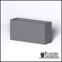 Modern Rectangle Cast Stone Planter - 60in.L x 18in.W x 30in.H