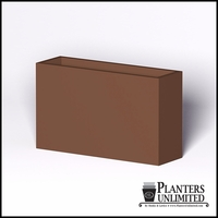 Modern Rectangle Cast Stone Planter - 60in.L x 18in.W x 36in.H