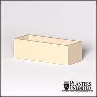 Modern Rectangle Cast Stone Planter - 60in.L x 24in.W x 18in.H