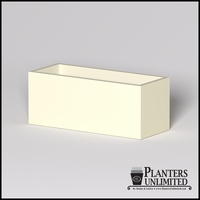 Modern Rectangle Cast Stone Planter - 60in.L x 24in.W x 24in.H