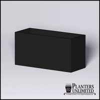 Modern Rectangle Cast Stone Planter - 60in.L x 24in.W x 30in.H