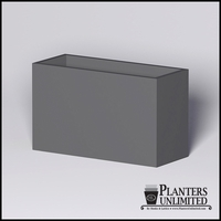 Modern Rectangle Cast Stone Planter - 60in.L x 24in.W x 36in.H