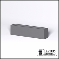 Modern Rectangle Cast Stone Planter - 72in.L x 14in.W x 18in.H