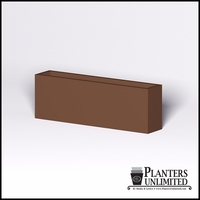 Modern Rectangle Cast Stone Planter - 72in.L x 14in.W x 24in.H