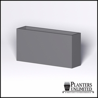 Modern Rectangle Cast Stone Planter - 72in.L x 18in.W x 36in.H