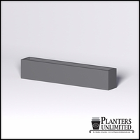 Modern Rectangle Cast Stone Planter - 96in.L x 14in.W x 18in.H