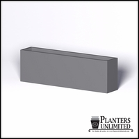 Modern Rectangle Cast Stone Planter - 96in.L x 18in.W x 30in.H