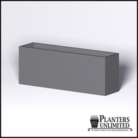 Modern Rectangle Cast Stone Planter - 96in.L x 24in.W x 36in.H