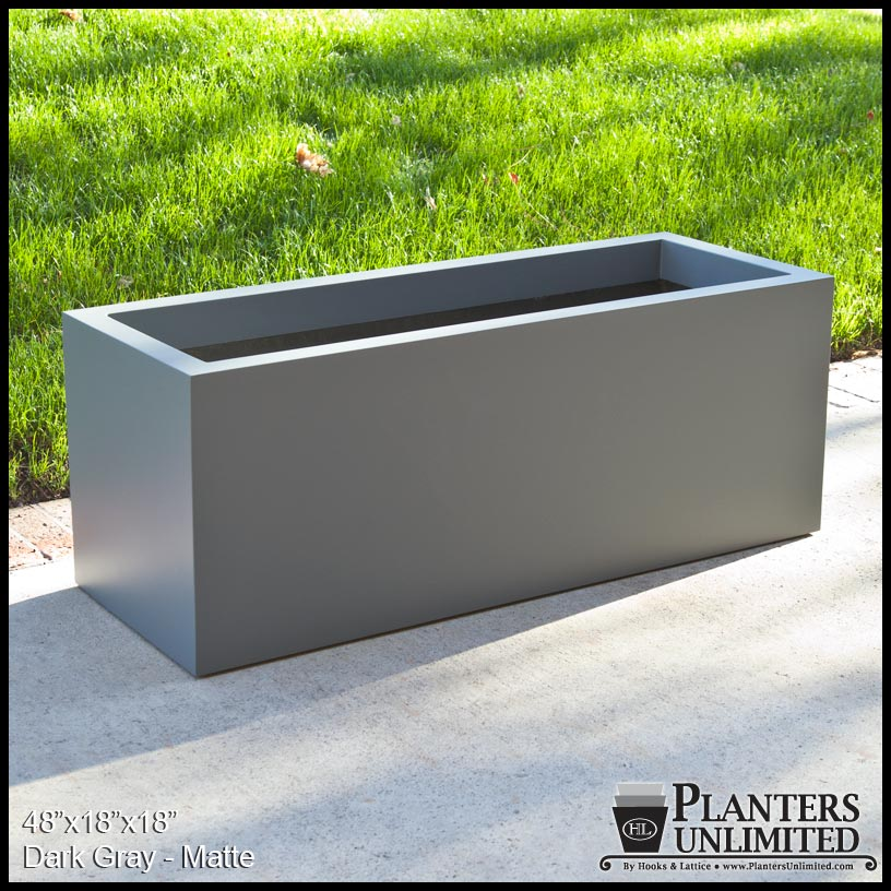 Modern rectangle planter 36inl x 16inw x 16inh click to enlarge workwithnaturefo