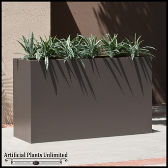 Modern Rectangle Planter 48in.L x 12in.W x 24in.H