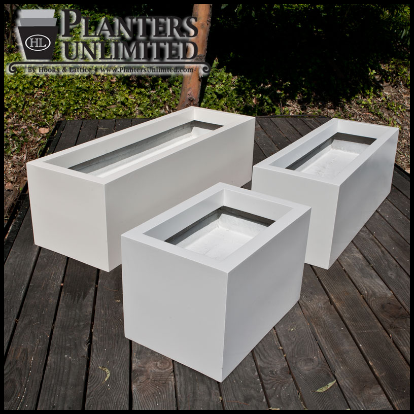 Modern Rectangle Planter 48in L X 18in W X 18in H