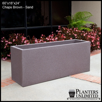 Modern Rectangle Planter 60in.L x 18in.W x 18in.H