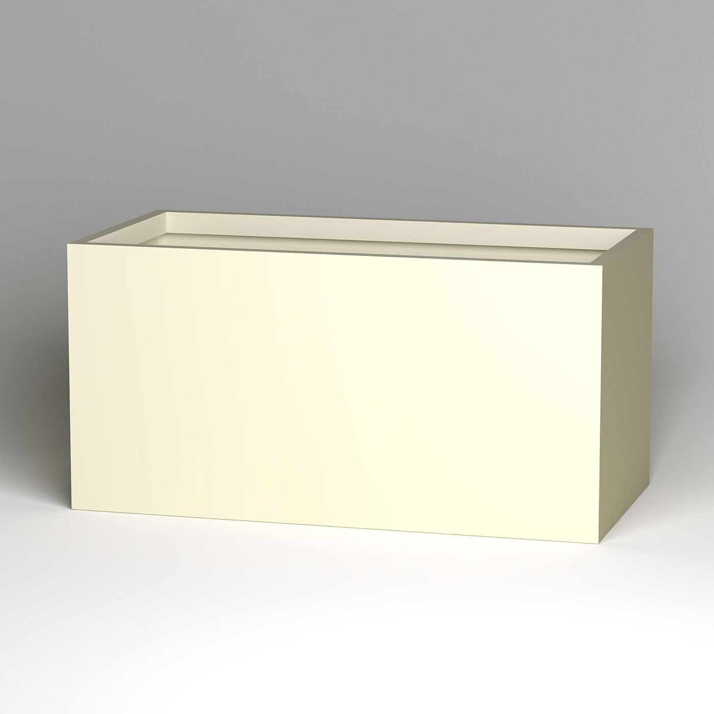 modern rectangle planter inl x inw x inh - click to enlarge
