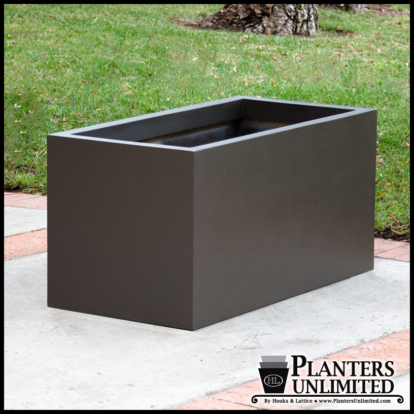 . Large Outdoor Planters Rectangular  Long Planters  Shopping Mall