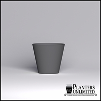 Modern Round Tapered Cast Stone Planter - 27in.D x 24in.H
