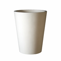 Modern Round Tapered Cast Stone Planters