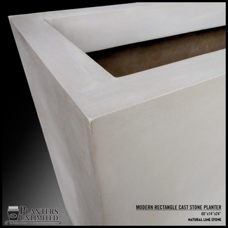Modern Square Cast Stone Planter - 42in.L x 42in.W x 42in.H