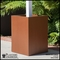 Modern Square Fiberglass Post Planter 24in.L x 24in.W x 30in.H