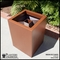 Modern Square Fiberglass Post Planter 20in.L x 20in.W x 18in.H