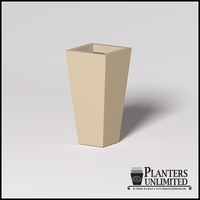 Modern Square Tapered Cast Stone Planter - 18in.L x 18in.W x 36in.H