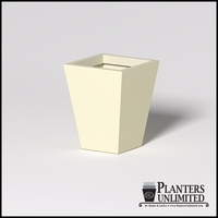 Modern Square Tapered Cast Stone Planter - 24in.L x 24in.W x 30in.H