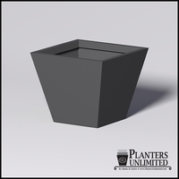 Modern Square Tapered Cast Stone Planter - 36in.L x 36in.W x 30in.H