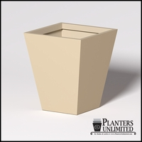 Modern Square Tapered Cast Stone Planter - 36in.L x 36in.W x 42in.H