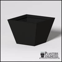 Modern Square Tapered Cast Stone Planter - 42in.L x 42in.W x 30in.H
