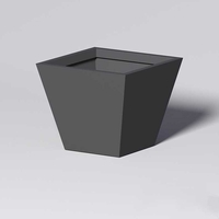Modern Square Tapered Cast Stone Planters