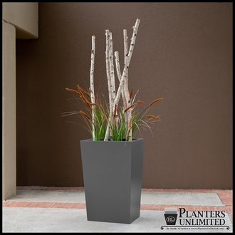 Modern Taper Planter with Artificial Plants