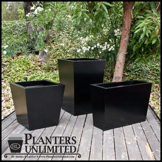 Modern Tapered Fiberglass Commercial Planter 24in.L x 24in.W x 24in.H