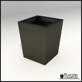 Modern Tapered Fiberglass Commercial Planter 42in.L x 42in.W x 48in.H