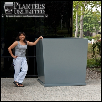 Modern Tapered Fiberglass Commercial Planter 60in.L x 60in.W 48in.H