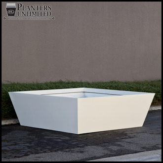 Modern Tapered Fiberglass Commercial Planter 72in.L x 72in.W 36in.H