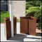Modern Tapered Square Fiberglass Post Planter 20in.L x 20in.W x 24in.H