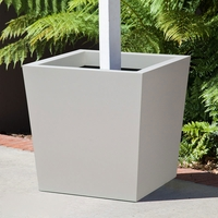 Modern Tapered Square Fiberglass Post Planters
