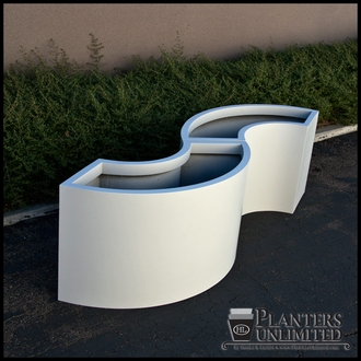Modular 1/3 Circle Fiberglass Commercial Planter 44in.Rad. x 18in.W x 24in.H